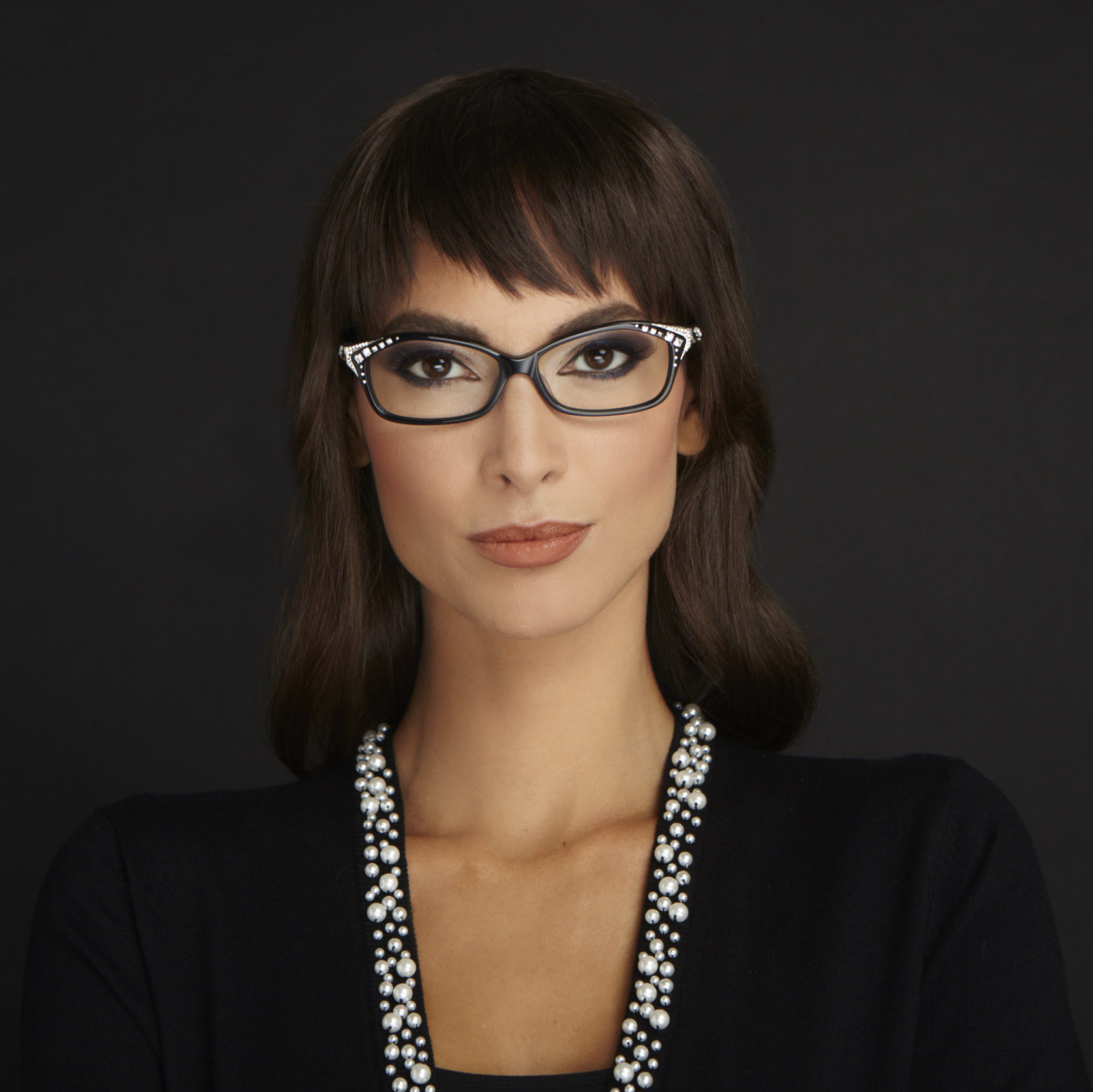 woman wearing caviar optical