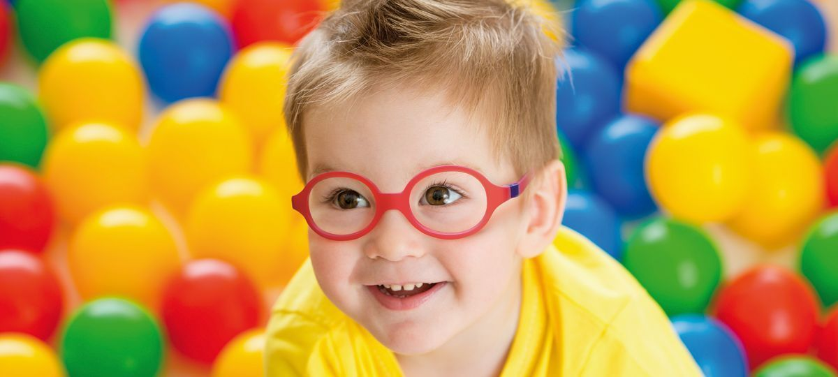 child wearing nano glasses